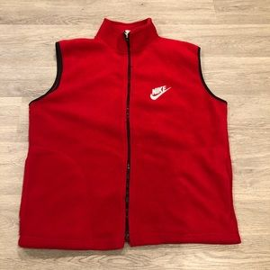 Vintage Nike Big Logo Fleece Vest Size L